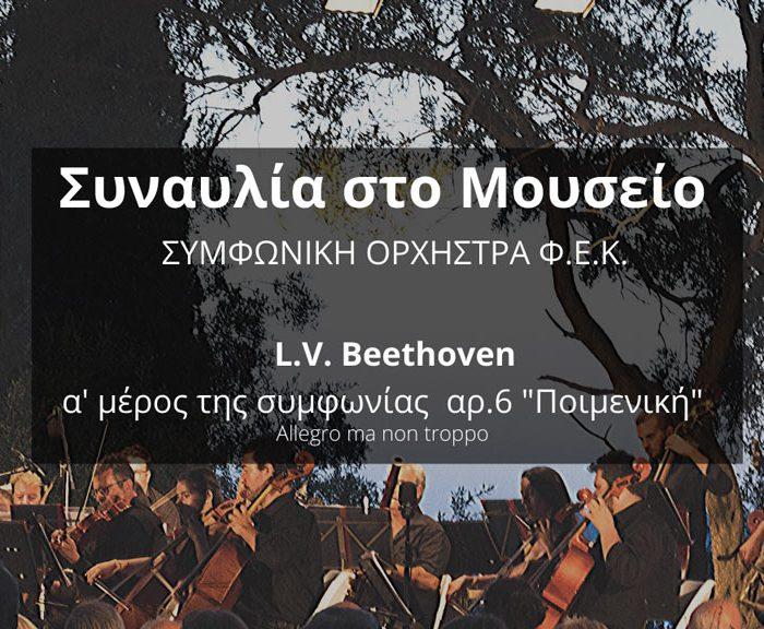 """Συναυλία στο Μουσείο: α' μέρος συμφωνίας αρ.6 """"Ποιμενική"""", του L.v. Beethoven από τη Συμφωνική Ορχήστρα της ΦΕΚ στο Μουσείο Καποδίστρια"""