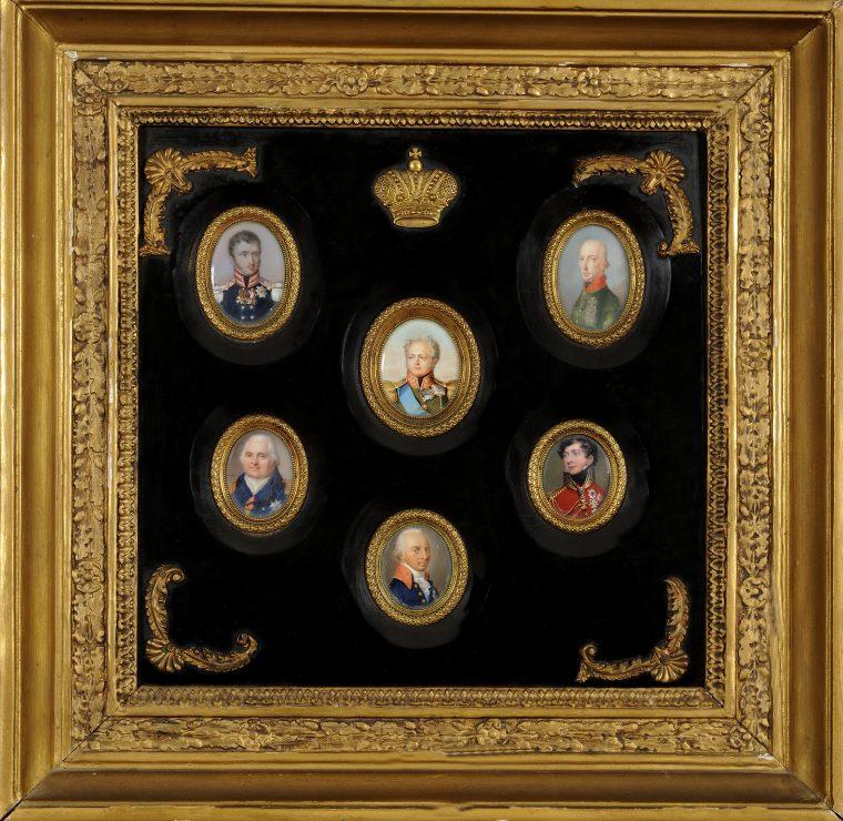 Πίνακας με πορτρέτα Ηγεμόνων στο Συνέδριο της Βιέννης